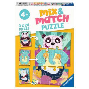 Ravensburger - 05137 - Puzzles Mix & Match 3x24 pièces - Les animaux rigolos (470192)