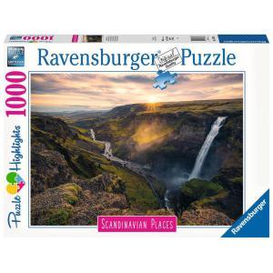 Ravensburger - 16738 - Puzzle 1000 pièces - La cascade Háifoss,Islande (Puzzle Highlights) (470216)