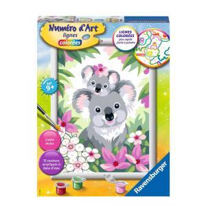 Ravensburger - 29048 - Numéro d'art - moyen - Maman koala et son bébé (470262)