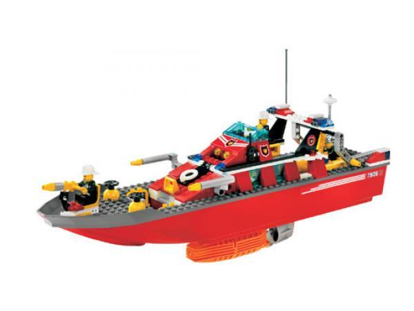 lego 7906 le bateau des pompiers
