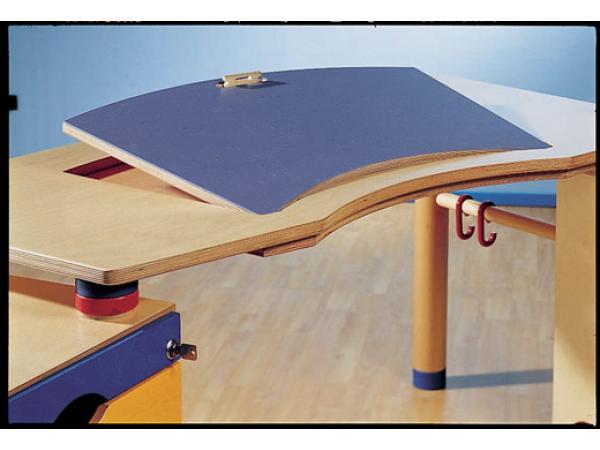 haba bureau kontiki plateau inclinable en couleur avec tag re cd et caisson. Black Bedroom Furniture Sets. Home Design Ideas
