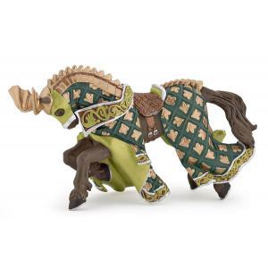 Papo - 39923 - Cheval du Maître des armes cimier dragon - Dim. 16 cm x 6 cm x 8 cm (50528)