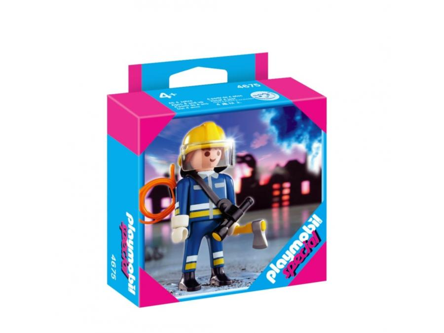 playmobil 4675 pompier avec hache - Playmobil Pompier