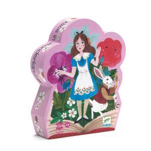 Djeco - DJ07260 - Puzzle silhouettes - Alice aux pays des merveilles - 50 pcs (51242)