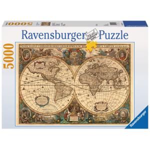 Ravensburger - 17411 - Puzzle 5000 pièces - Mappemonde antique (53719)