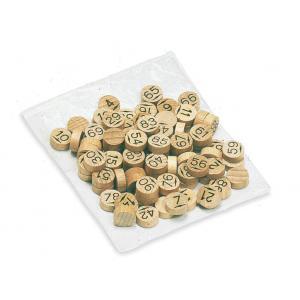 Jeujura - 8988 - Sachet 90 pions loto en bois (6109)