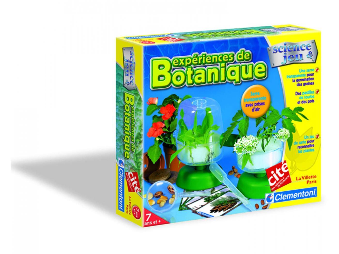 clementoni exp riences de botanique jeux scientifiques. Black Bedroom Furniture Sets. Home Design Ideas