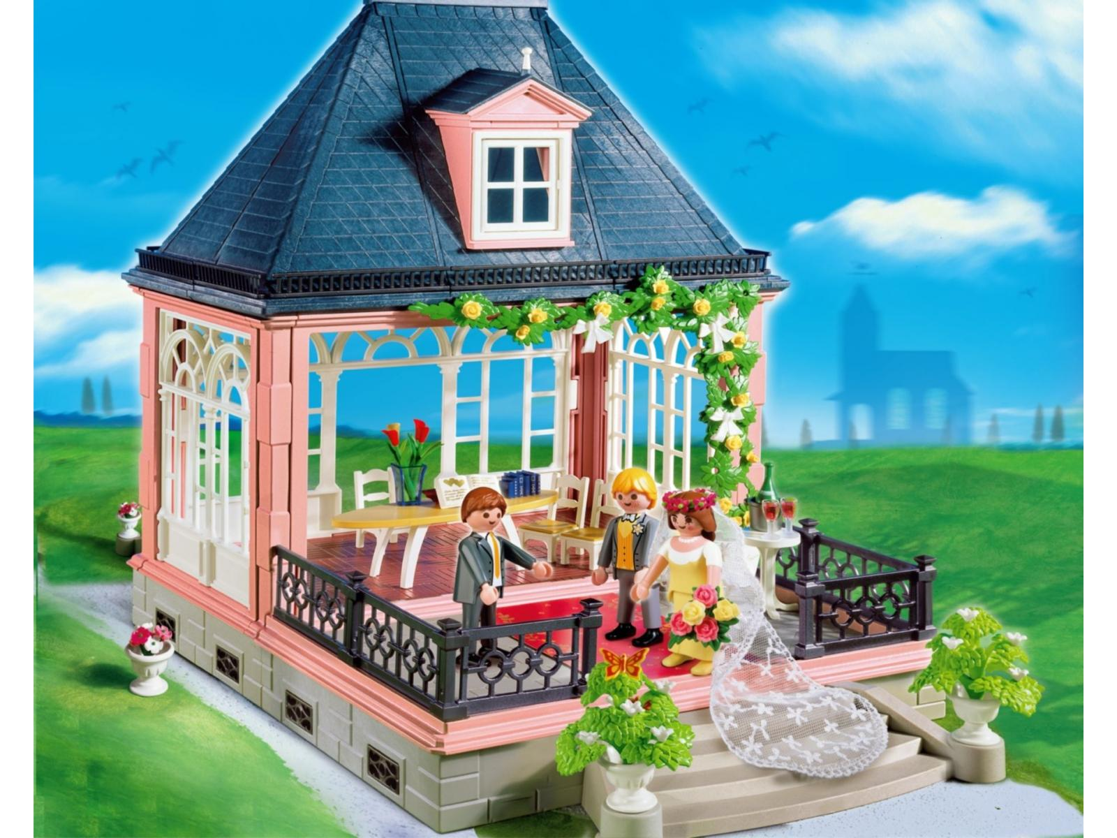 Playmobil mari s et salle de r ception 4297 for Salle a manger playmobil city life
