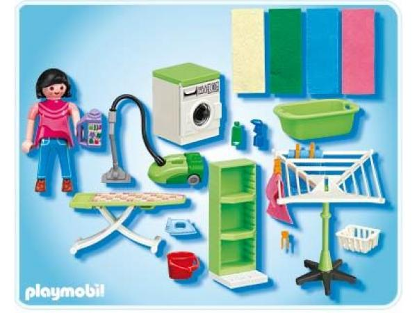 playmobil buanderie. Black Bedroom Furniture Sets. Home Design Ideas