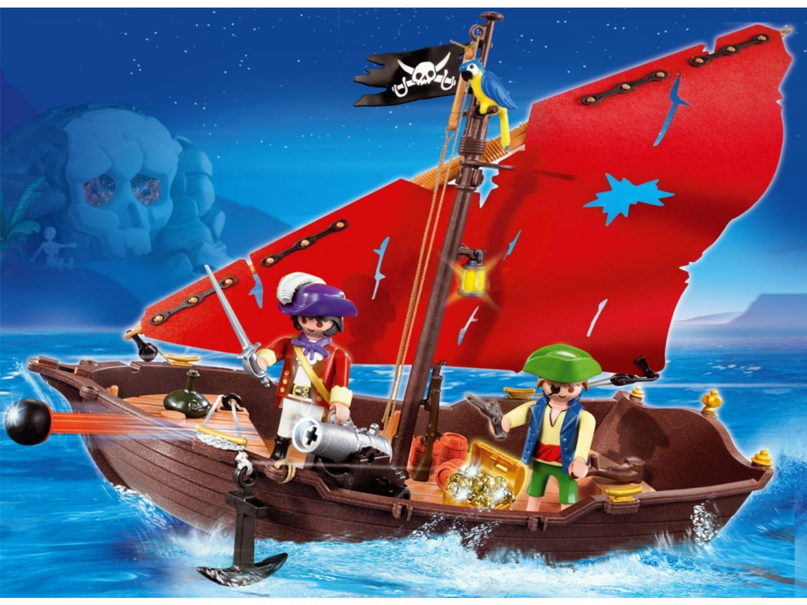 playmobil chaloupe des pirates 4444. Black Bedroom Furniture Sets. Home Design Ideas