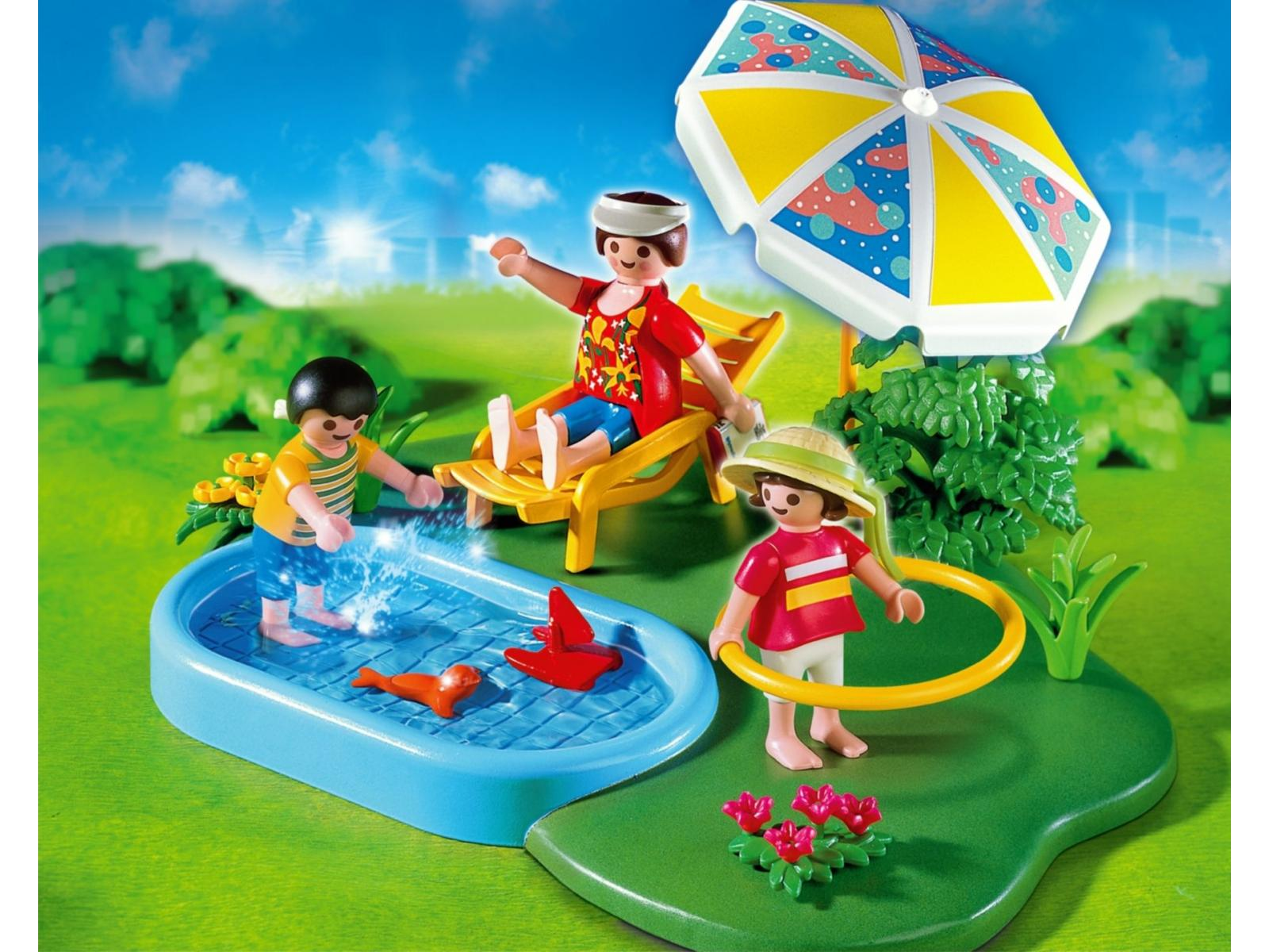 Playmobil compact set famille avec piscine 4140 for Piscine playmobil