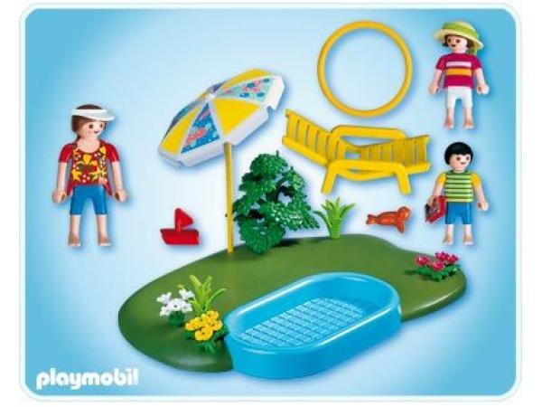Playmobil compact set famille avec piscine 4140 for Playmobil piscine avec terrasse