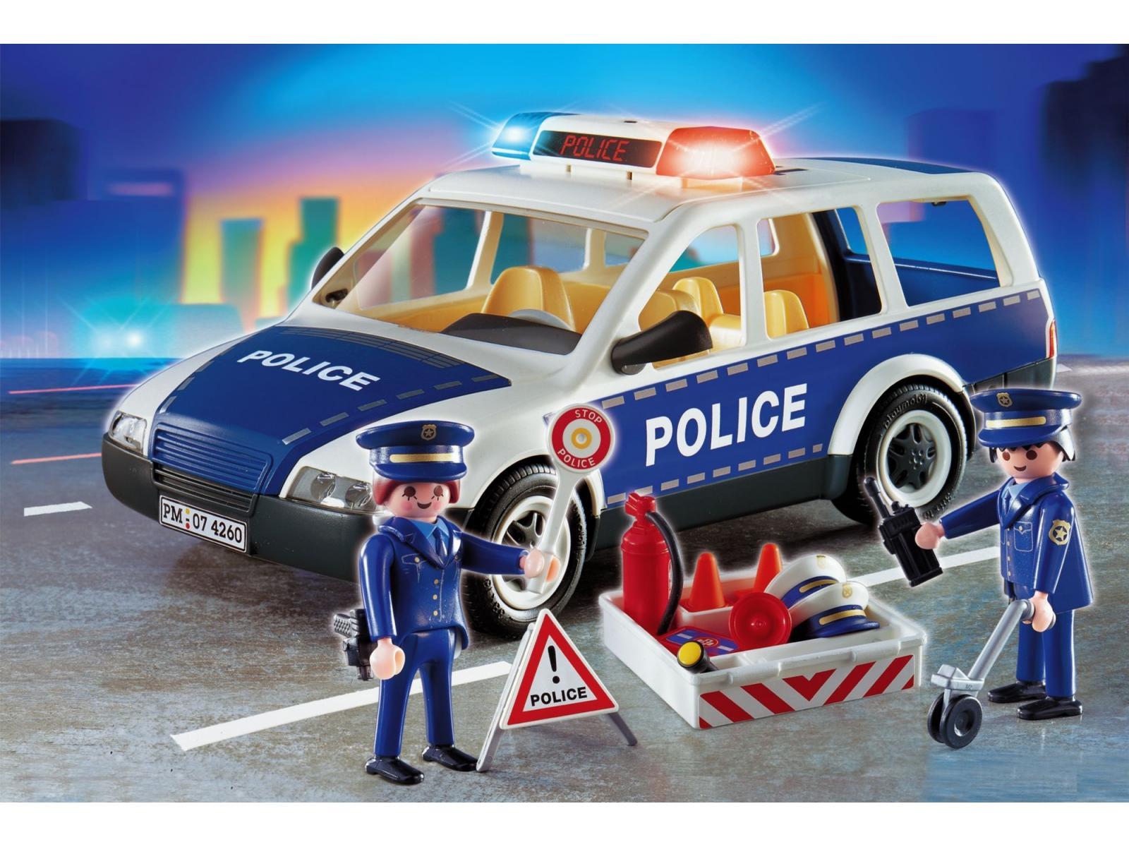 playmobil voiture de police et patrouille. Black Bedroom Furniture Sets. Home Design Ideas