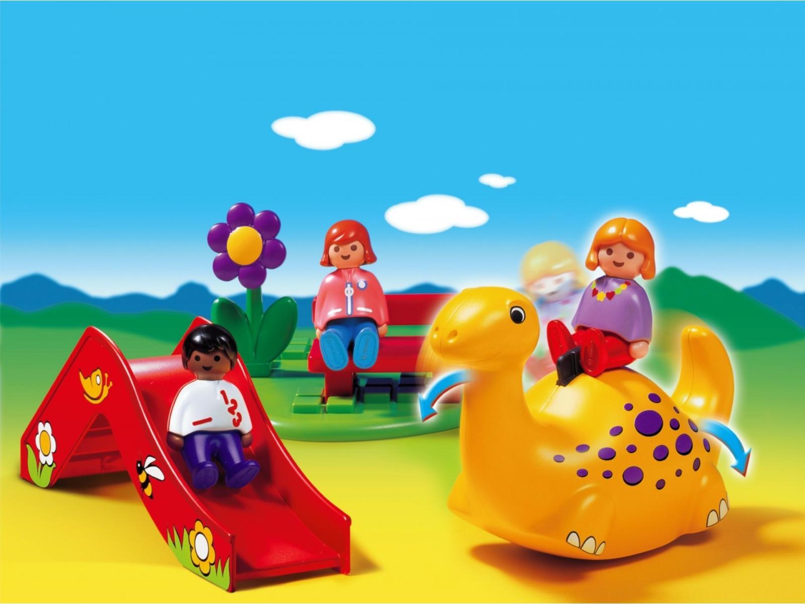 playmobil enfants et aire de jeux. Black Bedroom Furniture Sets. Home Design Ideas