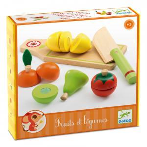 Djeco - DJ06526 - Jeu d'imitation - Fruits et légumes à couper (63869)