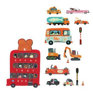 Djeco - DD04512 - Stickers muraux géants véhicules (63884)