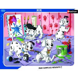 Nathan puzzles - 86091 - Puzzle cadres 35 pièces - Séance de peinture / 101 Dalmatiens (63955)