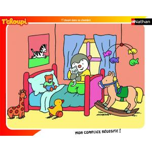 Nathan puzzles - 86092 - Puzzle cadre 35 pièces - T'choupi dans sa chambre (63970)