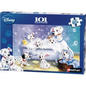 Nathan puzzles - 86612 - Puzzle 60 pièces - Tous au bain ! / 101 Dalmatiens (64060)