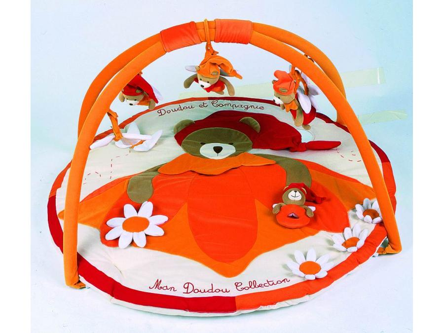 doudou et compagnie tapis d 233 veil collector orange