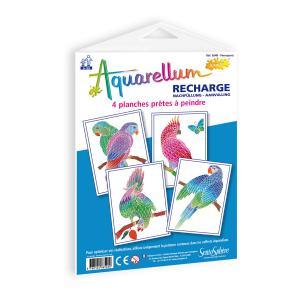 Sentosphère - 654R - Recharge aquarellum junior perroquets (66046)