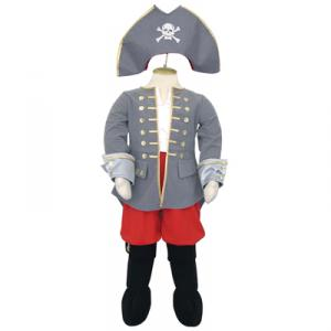 Travis - CPT6 - Costume Captain grey/red - 6 à 8 ans (66176)