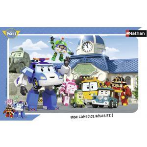 Nathan puzzles - 86014 - Puzzle cadres 15 pièces - L'équipe des Robocar Poli (7054)