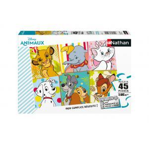 Disney - 86474 - Puzzle 45 pièces - Mes animaux Disney préférés / Disney Animals (7106)
