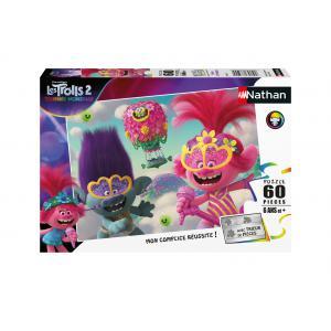 Disney - 86568 - Puzzle 60 pièces - Poppy et Branche / Trolls 2 (7118)