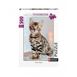 Nathan puzzles - 87123 - Puzzle N 500 pièces - Chaton Bengal (7184)