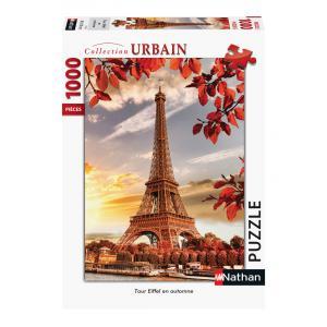 Nathan puzzles - 87472 - Puzzle N 1000 pièces - Tour Eiffel en automne (7201)