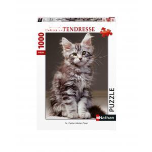 Nathan puzzles - 87643 - Puzzle N 1000 pièces - Le chaton Maine Coon (7226)