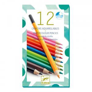 Djeco - DJ08824 - 12 crayons aquarellables (76378)