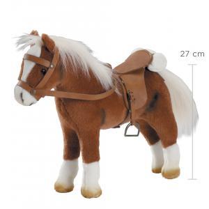 Gotz - 3401099 - Cheval en peluche, articules, 42x32 cm, selle et harnais, marron  (78423)
