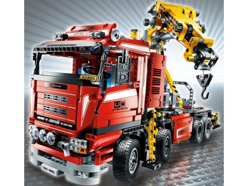 lego le camion grue. Black Bedroom Furniture Sets. Home Design Ideas