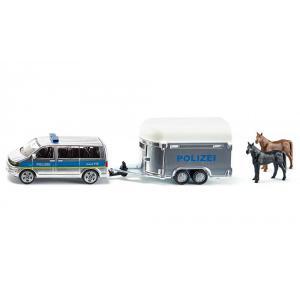 Siku - 2310 - Police avec remorque à chevaux - 1:55ème (85301)