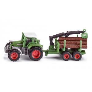 Siku - 1645 - Tracteur avec remorque forestière (85320)