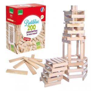 Vilac - 2134 - Batibloc classic  200 planchettes bois naturel (88682)