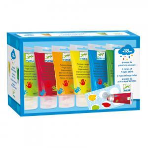 Djeco - DJ08860 - Les couleurs - Pour les petits - 6 tubes de peinture à doigts* (90575)