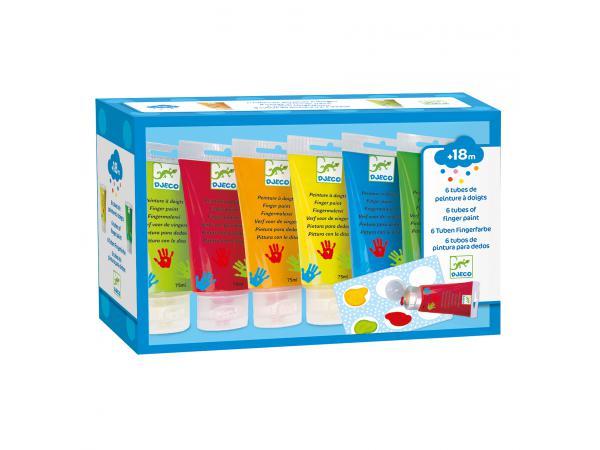 Les couleurs - pour les petits - 6 tubes de peinture à doigts*