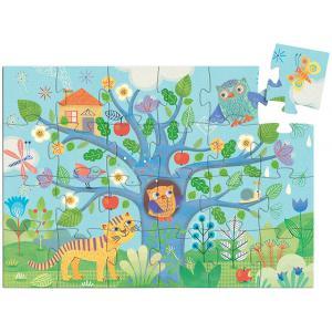 Djeco - DJ07215 - Puzzle silhouettes Coucou hibou - 24 pièces (90619)