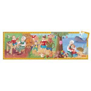 Djeco - DJ07251 - Puzzles silhouettes -  Pinocchio - 50 pièces (90620)