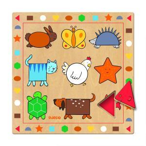 Djeco - DJ01803 - Puzzles éducatifs bois -  Ludigeo (90630)