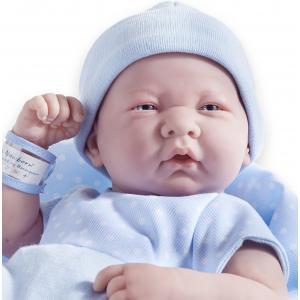 Berenguer - 18540 - Poupon Newborn nouveau né sexué garçon barboteuse bleue avec couverture 43 cm (91961)
