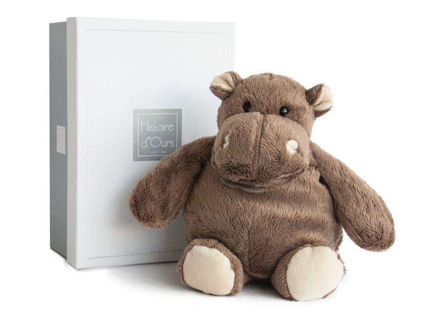 histoire d 39 ours peluche hippo 23 cm. Black Bedroom Furniture Sets. Home Design Ideas