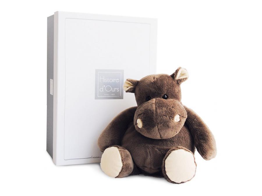 histoire d 39 ours hippo 38 cm bo te cadeau. Black Bedroom Furniture Sets. Home Design Ideas