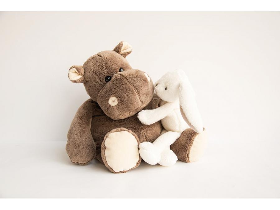 histoire d 39 ours peluche hippo 38 cm. Black Bedroom Furniture Sets. Home Design Ideas