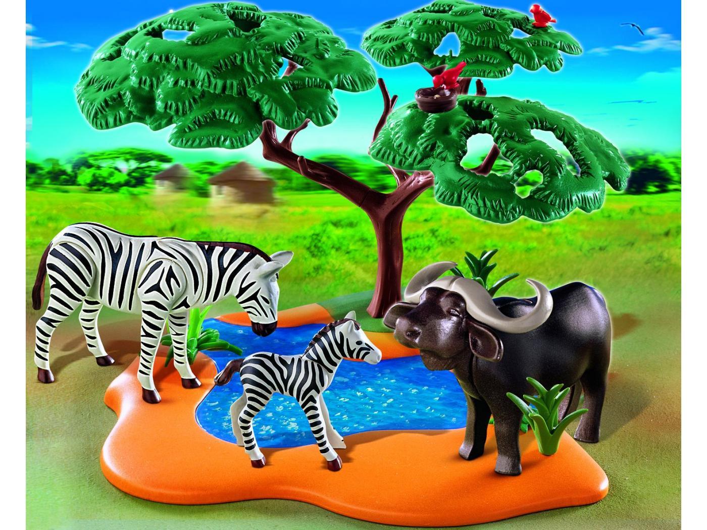 Playmobil buffle africain avec z bres - Playmobile savane ...