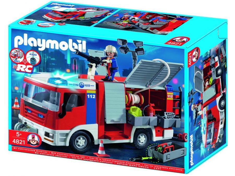 Playmobil fourgon d 39 intervention de pompier - Playmobil de pompier ...