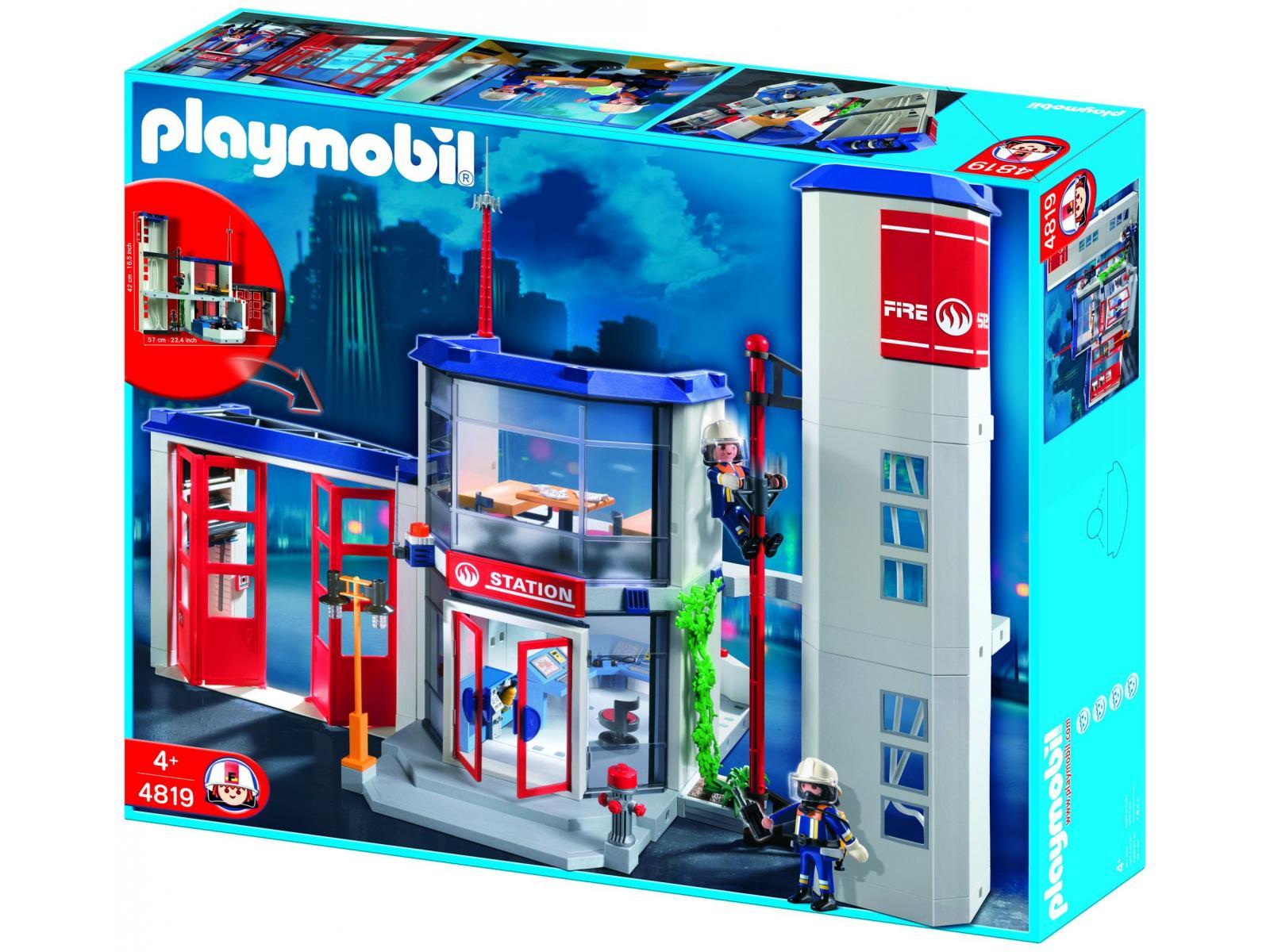 playmobil caserne de pompiers. Black Bedroom Furniture Sets. Home Design Ideas